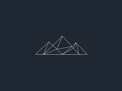 The Cairn Project visual identity identity mountains branding logo