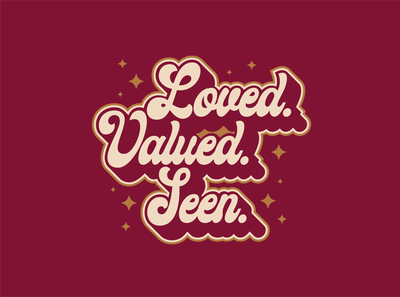 Loved Script star vintage retro 70s script typography design vector illustration