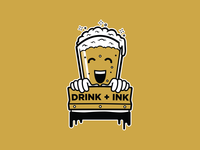 Drink + Ink Mascot
