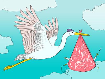 The Pool - Get the Epidural Illustration