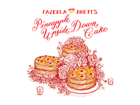 Pineapple Cake Recipe Card
