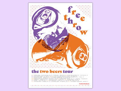 Free Throw Poster color cans gig poster typography threshold illustration poster