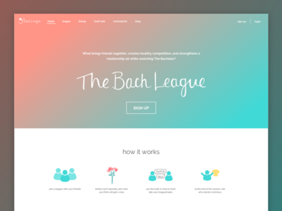 Bach League Home Page website web product landing home landing page