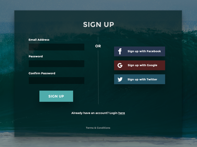 Daily UI - Day 001 input form flat element dailyui login signup 001 day001