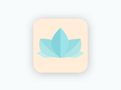 Daily UI - Day 005 - App Icon mobile flat logo yoga lotus icon app 005 day 5 daily ui dailyui