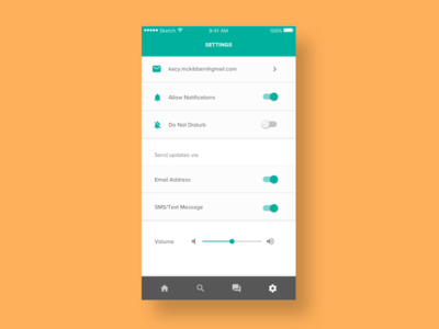 Daily UI - Day 007 - Settings day 7 day 007 daily ui mobile settings