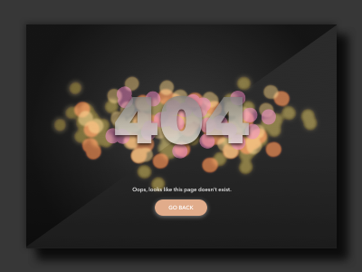 Daily UI - Day 008 - 404 Error Page error 8 day 008 daily ui lens bokeh 404