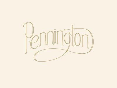 Pennington Stationary lettering stationary wedding