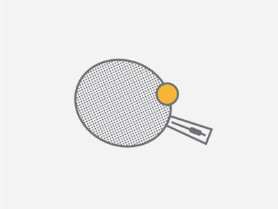 Ping pong! ping pong pingpong illustration paddle ball line school bus yellow