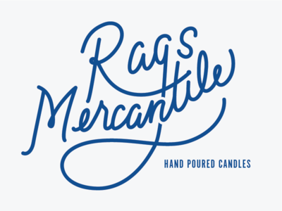 Rags Mercantile lettering rags-mercantile hand-poured-candles