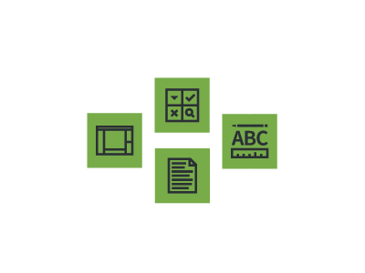 Buttons green layout buttons document design components