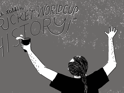 Cricket World Cup history beer illustration south african berlin red solo cup cricket zine
