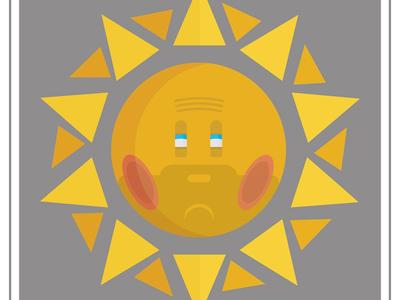 Struggling Sunday sun design art adobe print illustration vector