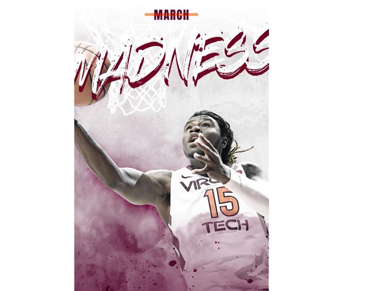 Virgina Tech March Madness smsports basketball marchmadness athlete adobe