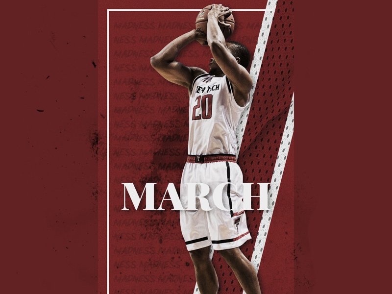Texas Tech March Madness sports design smsports athlete texas basketball adobe