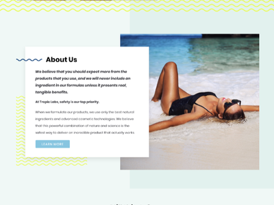 Tropic Website Design web graphics lettering patterns illustration typography shopify design ecommerce design website design sun tropical tanning tropic labs