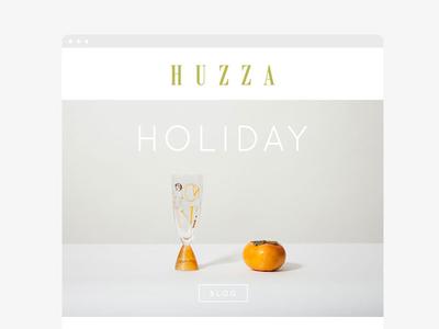 Huzza Newsletter Design