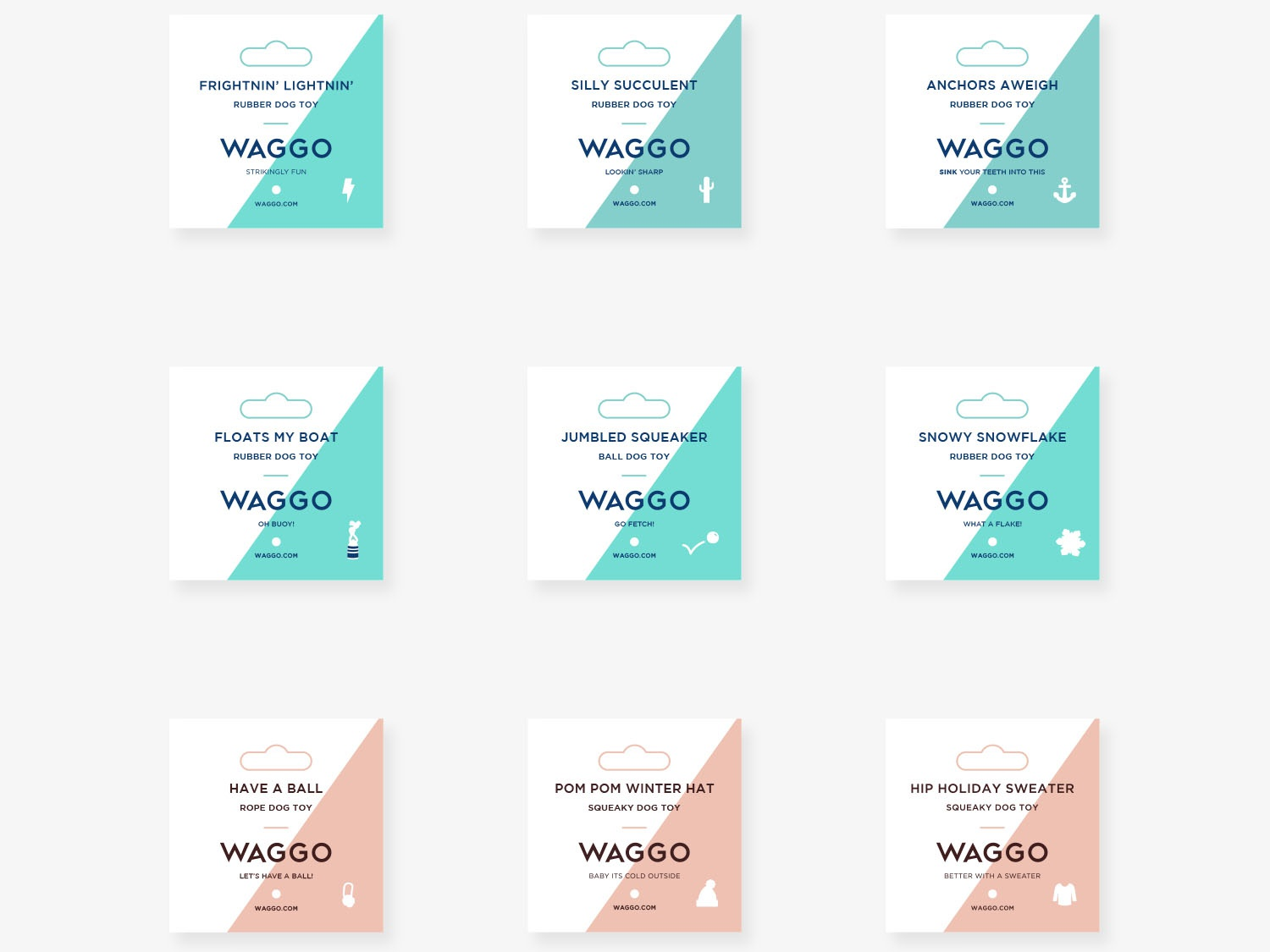 Waggo Tags layout typography illustration icon design print design visual designer retail tags ecommerce hang tags pet brand modern dog brand new york brooklyn waggo
