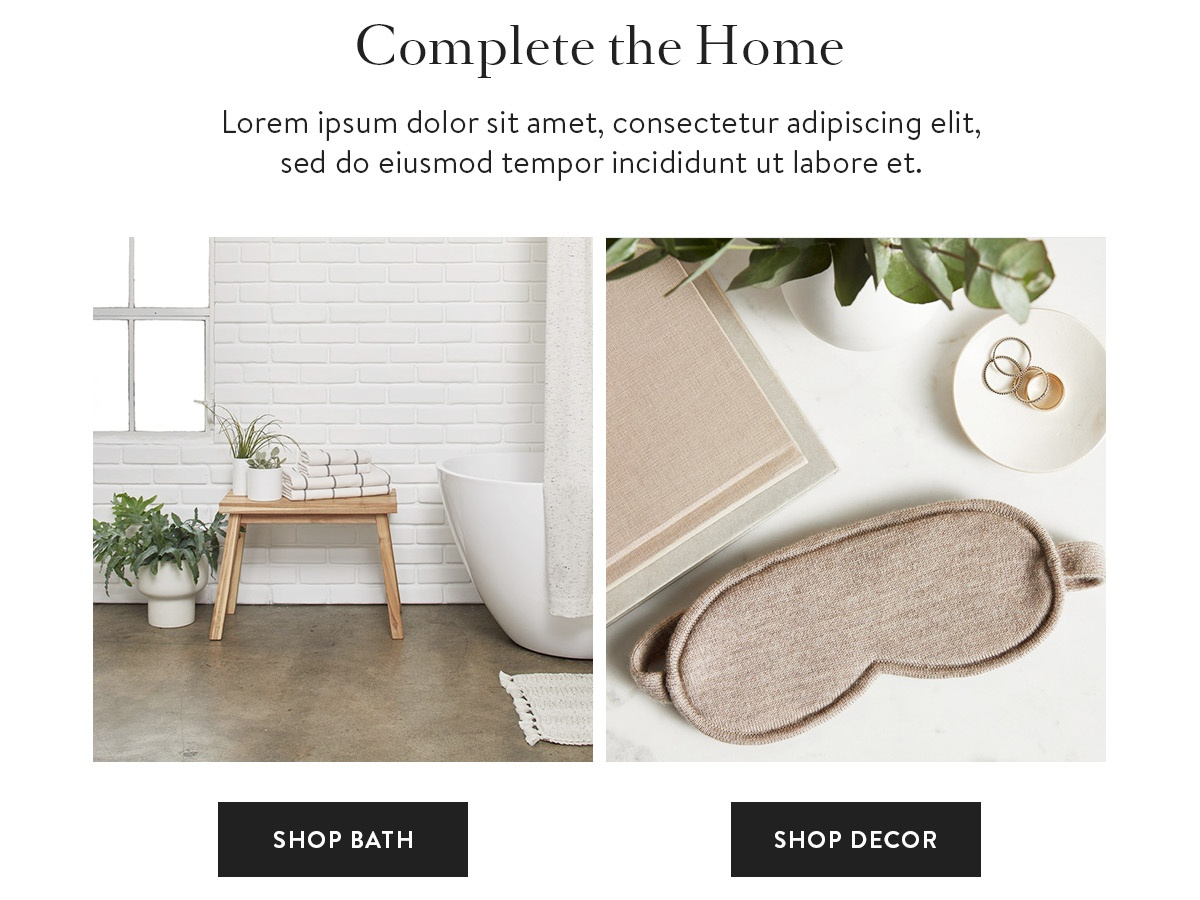 Home goods email design design ecommerce visual design newsletter design typography layout user experience user interface ux ui email design home goods home decor parachute home