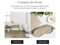Home goods email design