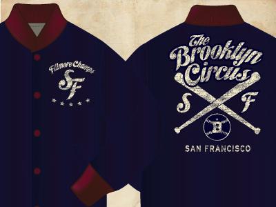 Bkc sf satin baseball jacket