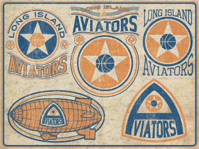 Long Island Aviators nyc antique basketball graphic logo ny longisland li new york aviators rustic americana design star vintage