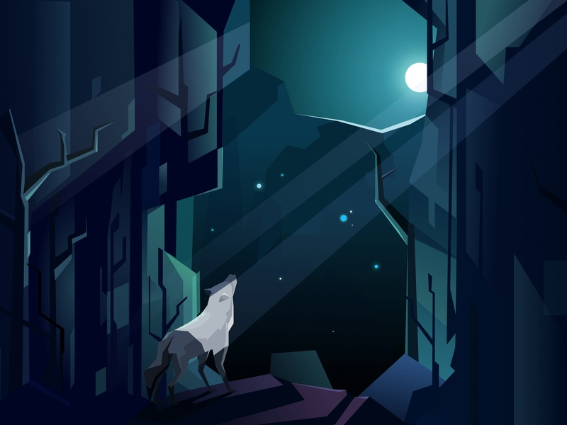 Werewolf illustration by Padi Tang on Dribbble