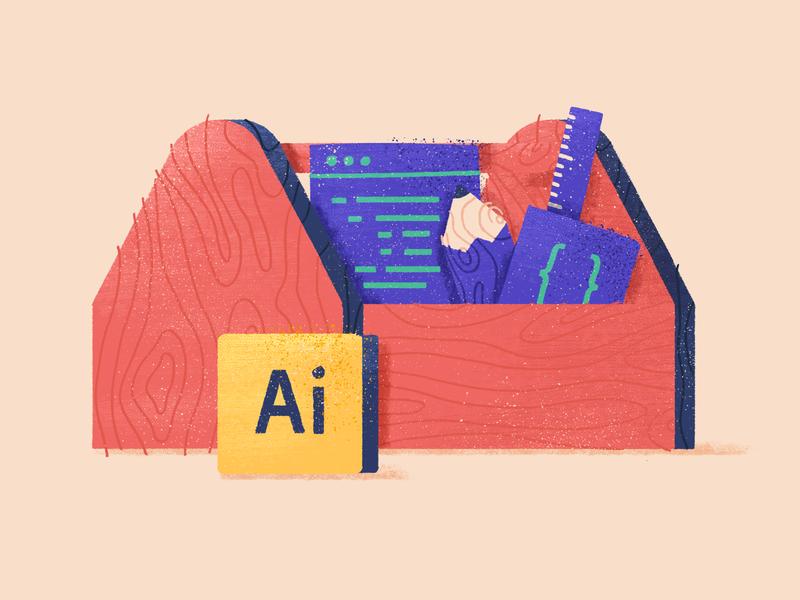 Free Ai scripts — Blog Illustration wood pencil draw adobe illustrator plugin tools freebie javascript blog texture grain