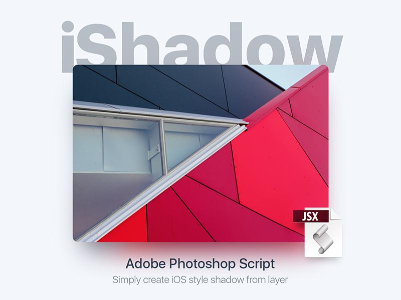 iShadow [Free PS script] free plugin tools ui freebie javascript ios shadow