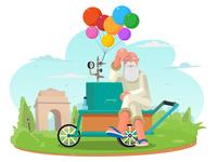 Balloon seller in the Park!