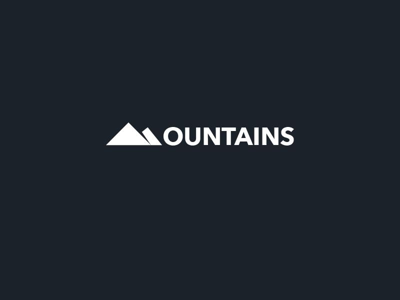 Mountains Logo nature logo minimal hill mountains mountain