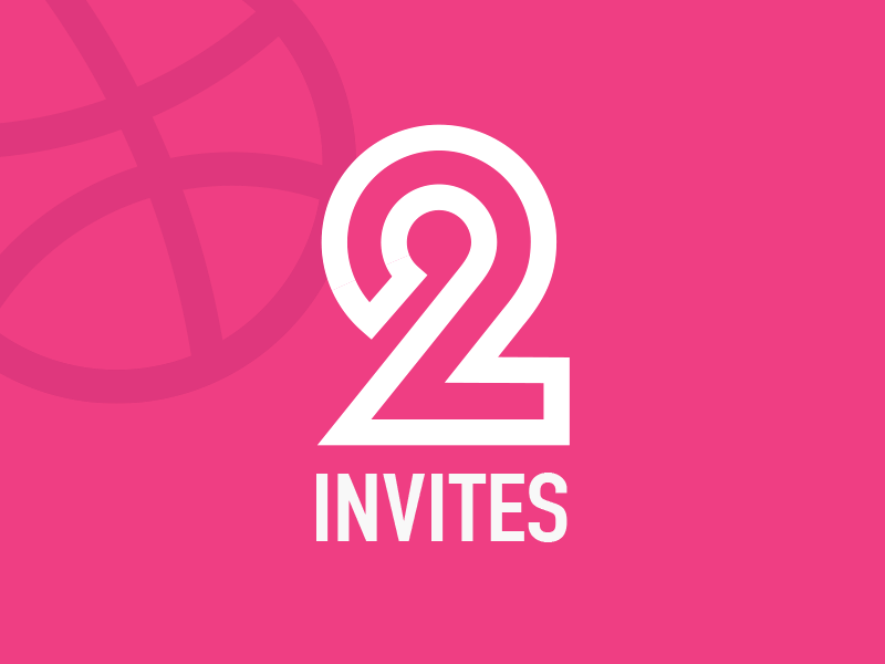 2 Dribbble Invites! 2 invites dribbble invitation dribble invites dribbble invites invites