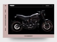 Ducati Scrambler Landing Page