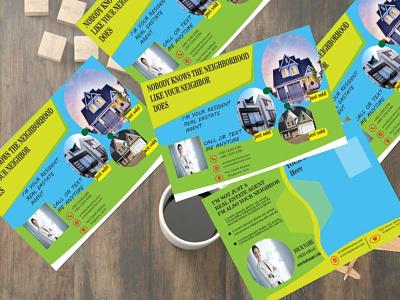 PostCard Design Template modern template t-shirt design 3d branding graphic design