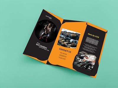 Tri-Fold Brochure Design Template modern template design motion graphics graphic design