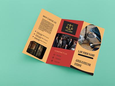 Tri-Fold Brochure Design Template professional clean modern template design tri-fold branding motion graphics graphic design