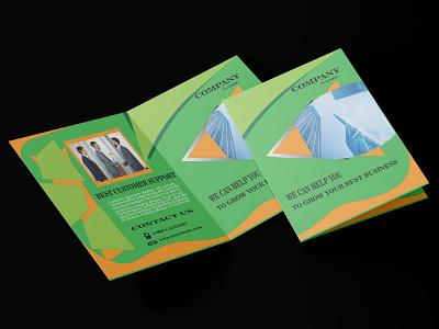 Bi-Fold Brochure Design Template company brochure professional modern template design bi-fold brochure branding motion graphics graphic design