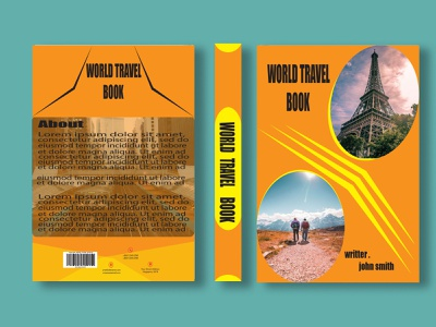Book Cover design Template travel modern template design book cover branding motion graphics graphic design