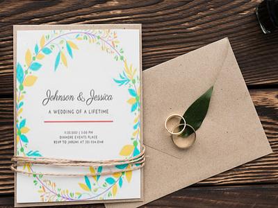 Wedding invitation Card Design Template template invitation wedding branding motion graphics graphic design