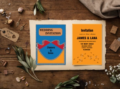 Wedding Invitation Card Template template design modern professional motion graphics branding graphic design