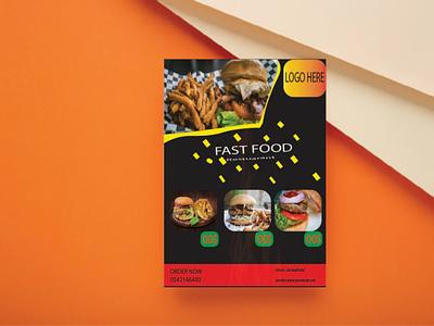 Flyer Design Template fast food motion graphics professional template design modern branding graphic design