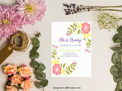 Wedding Invitation Card Design Template template design professional motion graphics modern branding graphic design