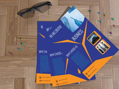 Flyer Design Template professional motion graphics design modern template branding graphic design