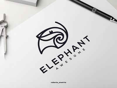 Elephant Awesome Logo design logo logo design ux motion graphics vector illustration graphic design animation branding designer design logos logo elephant