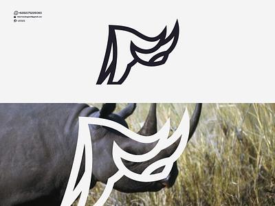 Rhinoceros Logo love nice good designer animation branding motion graphics graphic design design icon logos logo cool line rhinoceros