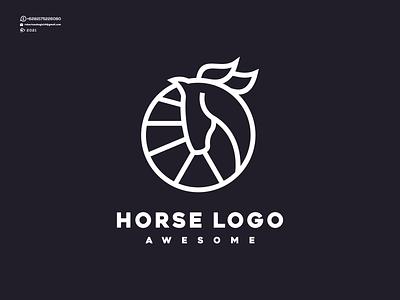 Horse Logo vector illustration design graphic design animation line branding nice cool logos logo icon awesome horse