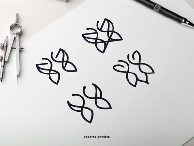 Butterfly Set Logo branding motion graphics graphic design animation design good logos logo cool icon nice butterfly
