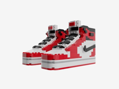 Bricks Kicks Air Jordan 1 Collectible Kit art sneakers nike legos model