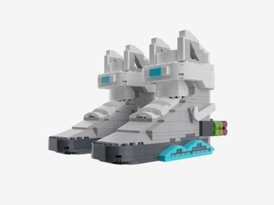 Bricks Kicks Air Mag Collectible Kit nike sneakers models lego design