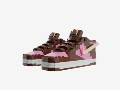 Bricks Kicks SB Dunk x Stussy Collectible Kit model stussy nike legos lego design
